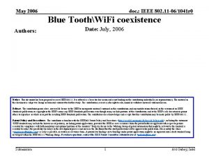 May 2006 doc IEEE 802 11 061041 r