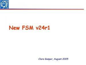 New FSM v 24 r 1 Clara Gaspar