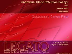 Individual Clone Retention Policy 0 2 Venu Varma