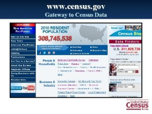 www census gov Gateway to Census Data www