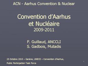 ACN Aarhus Convention Nuclear Convention dAarhus et Nuclaire