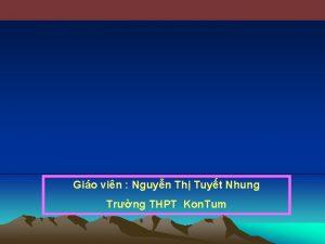Gio vin Nguyn Th Tuyt Nhung Trng THPT