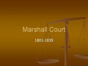 Marshall Court 1801 1835 Who was John Marshall