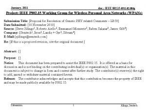 January 2011 doc IEEE 802 15 0911 02