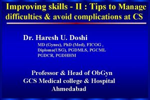Improving skills II Tips to Manage difficulties avoid