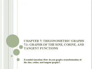 CHAPTER 7 TRIGONOMETRIC GRAPHS 7 1 GRAPHS OF