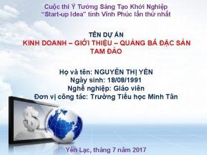 Cuc thi Tng Sng To Khi Nghip Startup
