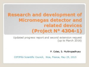Research and development of Micromegas detector and related