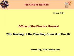 INFORME PROGRESS DE REPORT GESTIN CDdoc 0804 Office