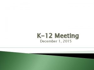 K12 Meeting December 1 2015 Welcome Technology Thinglink