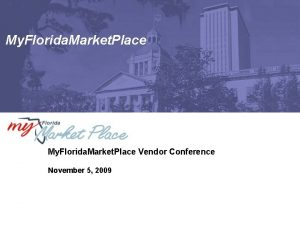 My Florida Market Place Vendor Conference November 5