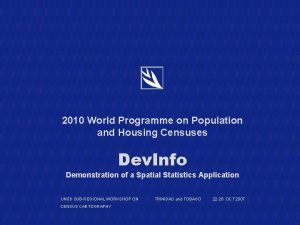 2010 World Programme on Population and Housing Censuses