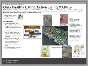 OHIO STATE UNIVERSITY EXTENSION Ohio Healthy Eating Active