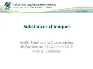 Substances chimiques Atelier Elargi pour la Circonscription 30