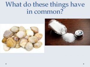 What do these things have in common Economic