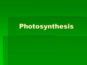 Photosynthesis Energy Life Energy the ability to do