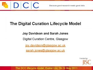 Because good research needs good data The Digital