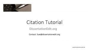 Citation Tutorial Dissertation Edit org Contact Suedissertationedit org