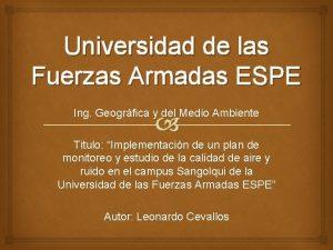 Universidad de las Fuerzas Armadas ESPE Ing Geogrfica