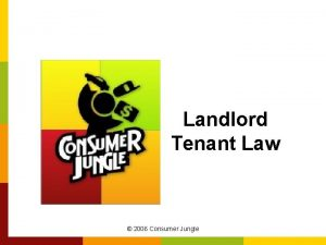 Landlord Tenant Law 2006 Consumer Jungle Importance of