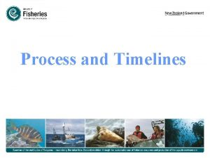 Process and Timelines DEVELOPING FISHERIES PLANS 5 MAIN