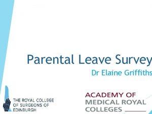 Parental Leave Survey Dr Elaine Griffiths Parental Leave
