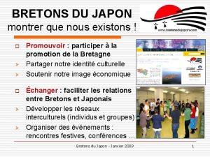 BRETONS DU JAPON montrer que nous existons o