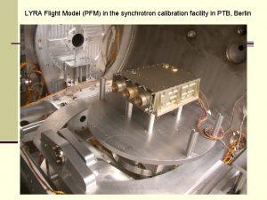 LYRA Flight Model PFM in the synchrotron calibration