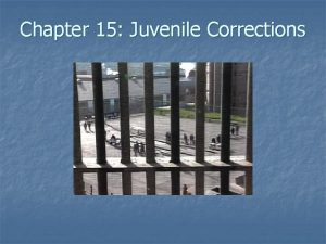 Chapter 15 Juvenile Corrections n Deciding the Disposition