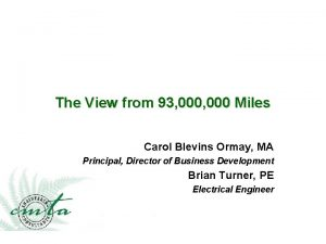 The View from 93 000 Miles Carol Blevins