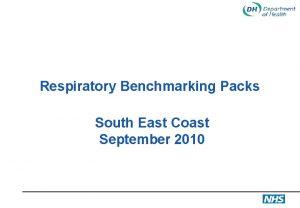 Respiratory Benchmarking Packs South East Coast September 2010