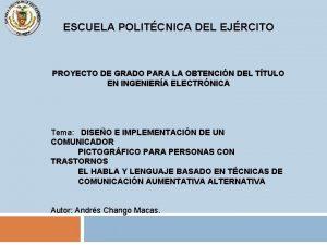 ESCUELA POLITCNICA DEL EJRCITO PROYECTO DE GRADO PARA