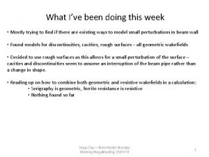What Ive been doing this week Mostly trying