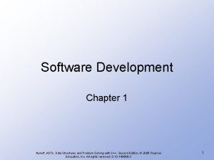 Software Development Chapter 1 Nyhoff ADTs Data Structures