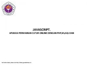 JAVASCRIPT APLIKASI PERMAINAN CATUR ONLINE DENGAN PHP My