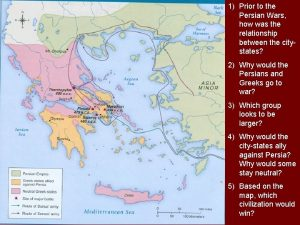1 Prior to the Persian Wars how was