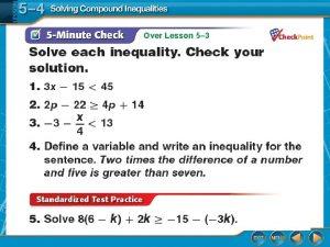 Over Lesson 5 3 Over Lesson 5 3