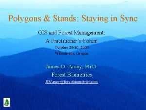 Polygons Stands Staying in Sync GIS and Forest
