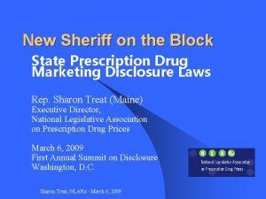New Sheriff on the Block State Prescription Drug