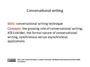 Conversational writing Skills conversational writing technique Concepts the