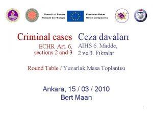 Criminal cases Ceza davalar ECHR Art 6 AHS