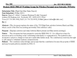 May 2000 doc IEEE 802 15 00130 r
