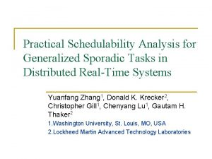 Practical Schedulability Analysis for Generalized Sporadic Tasks in