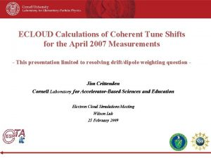 ECLOUD Calculations of Coherent Tune Shifts for the