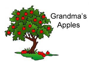Grandmas Apples Grandmas Apples Problem Which apple contains
