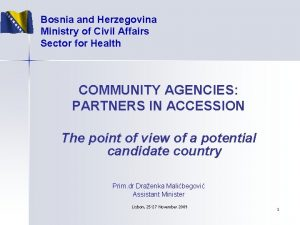 Bosnia and Herzegovina Ministry of Civil Affairs Sector