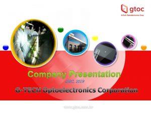 Company Presentation DEC 2019 Disclaimer v This presentation