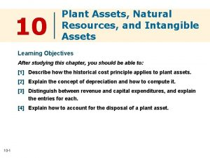 10 Plant Assets Natural Resources and Intangible Assets