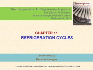 Thermodynamics An Engineering Approach 8 th Edition in