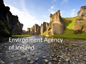 Environment Agency of Iceland Organization Chart Protected areas